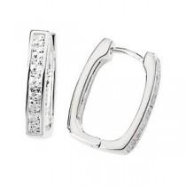 Hinged Hoop Earrings in Sterling Silver