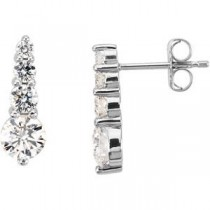 Diamond Journey Earrings in Platinum (1 Ct. tw.) (1 Ct. tw.)