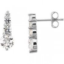 Diamond Journey Earrings in Platinum (1 Ct. tw.) (1 Ct. tw.)
