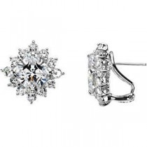Fashion CZ Earring in Sterling Silver