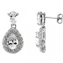 Fashion CZ Earring in Sterling Silver