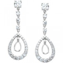 Diamond Earrings in 18k White Gold (1 Ct. tw.) (1 Ct. tw.)