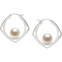 Cultured Pearl Earrings in Sterling Silver
