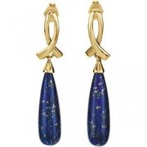 Lapis Earrings in 14k Yellow Gold