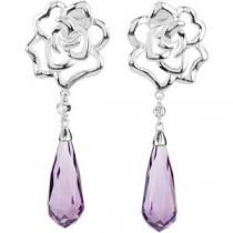 Briolette Diamond Earrings in Sterling Silver (0.02 Ct. tw.) (0.02 Ct. tw.)
