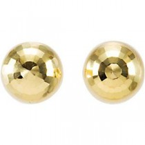 Diamond Cut Ball Earrings in 14k Yellow Gold