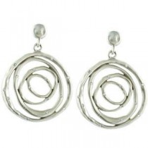Diamond Earrings in Sterling Silver & 14k White Gold (0.375 Ct. tw.) (0.375 Ct. tw.)