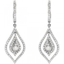 Diamond Earrings in 14k White Gold (1 Ct. tw.) (1 Ct. tw.)
