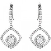 Diamond Earrings in 14k White Gold (0.75 Ct. tw.) (0.75 Ct. tw.)