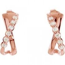 Diamond Earrings in 14k Rose Gold (0.25 Ct. tw.) (0.25 Ct. tw.)