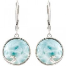 Larimar Earrings in Sterling Silver