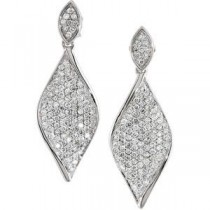 Diamond Earrings in 14k White Gold (1.2 Ct. tw.) (1.2 Ct. tw.)