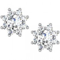 Diamond Cluster Earrings in 14k White Gold (1.75 Ct. tw.)