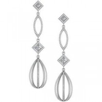 Diamond Earrings in 14k White Gold (3.5 Ct. tw.) (3.5 Ct. tw.)