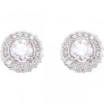 Diamond Entourage Earrings in 14k White Gold (0.875 Ct. tw.)