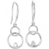 Diamond Earrings in 14k White Gold (0.04 Ct. tw.) (0.04 Ct. tw.)