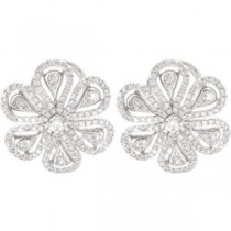 Diamond Earrings in 14k White Gold (1.25 Ct. tw.)