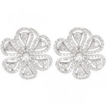 Diamond Earrings in 14k White Gold (1.25 Ct. tw.)