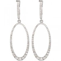 Diamond Earrings in 14k White Gold (1.25 Ct. tw.) (1.25 Ct. tw.)