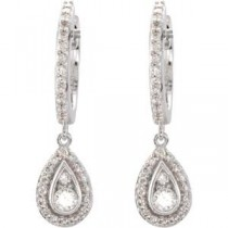 Diamond Earrings in 14k White Gold (0.5 Ct. tw.) (0.5 Ct. tw.)
