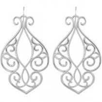 Diamond Earrings in Sterling Silver (0.33 Ct. tw.) (0.33 Ct. tw.)