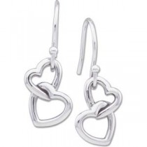 Fashion Heart Earrings in Sterling Silver