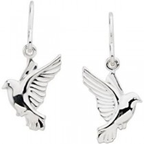Wings Of Remembrance Earrings in 14k Yellow Gold