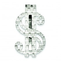 Dollar Sign Money Clip in Sterling Silver