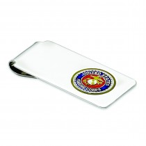 U.S. Marine Corp Money Clip in Sterling Silver