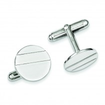 Circle Cuff Links in Sterling Silver