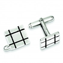 Square Cuff Links in Sterling Silver