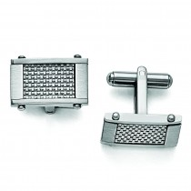 Rectangle Cuff Links in Stainless Steel