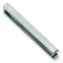 Enameled Tie Bar in Stainless Steel