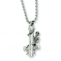 Cross Pendant Necklace in Stainless Steel