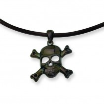 Skull Cross Bones Pendant Neckla in Stainless Steel