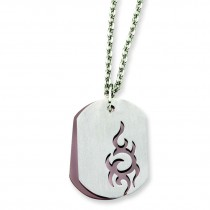 IP Plated Double Layer Pendant in Stainless Steel