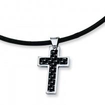 Cross Pendant in Stainless Steel