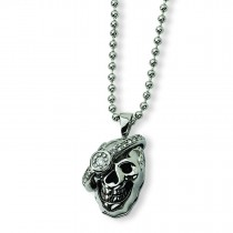 Skull Diamond Necklace in Stainless Steel
