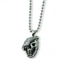 Skull Diamond Necklace in Stainless Steel