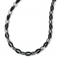 IP Plated Fancy Necklace in Stainless Steel