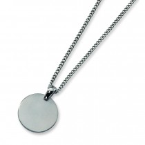 Brushed Necklace in Titanium