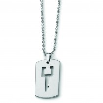Key Cut Out Necklace in Tungsten