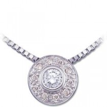 Diamond Fashion Necklace in 14k White Gold (0.16 Ct. tw.) (0.16 Ct. tw.)