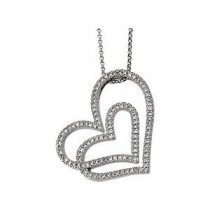 Diamond Heart Necklace in 14k White Gold (0.5 Ct. tw.) (0.5 Ct. tw.)