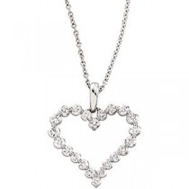 Diamond Heart Necklace in 14k White Gold (1 Ct. tw.) (1 Ct. tw.)