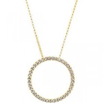 Diamond Circle Necklace in 14k Yellow Gold (1 Ct. tw.) (1 Ct. tw.)