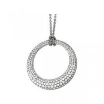 Diamond Fashion Necklace in 14k White Gold (3 Ct. tw.) (3 Ct. tw.)