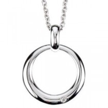 Diamond Fashion Necklace in Sterling Silver (0.01 Ct. tw.) (0.01 Ct. tw.)