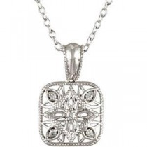 Diamond Fashion Necklace in Sterling Silver (0.05 Ct. tw.) (0.05 Ct. tw.)