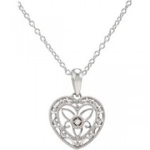 Diamond Heart Necklace in Sterling Silver (0.06 Ct. tw.) (0.06 Ct. tw.)
